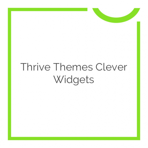 Thrive Themes Clever Widgets 1.29