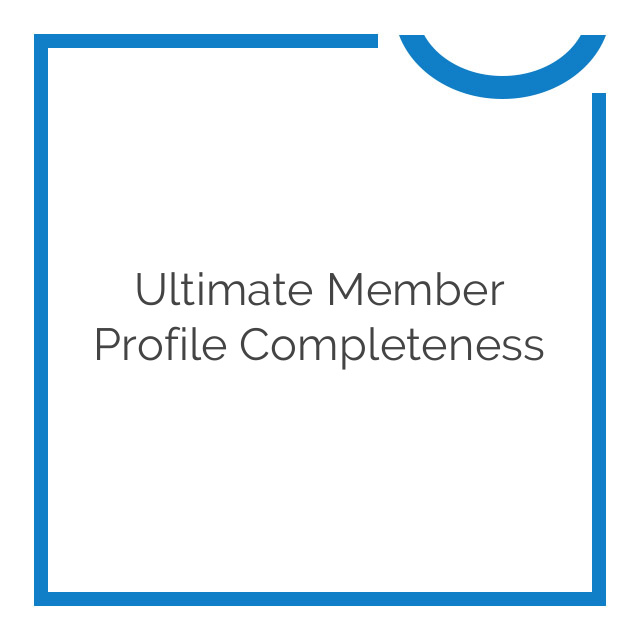 Ultimate Member Profile Completeness 2.0.0