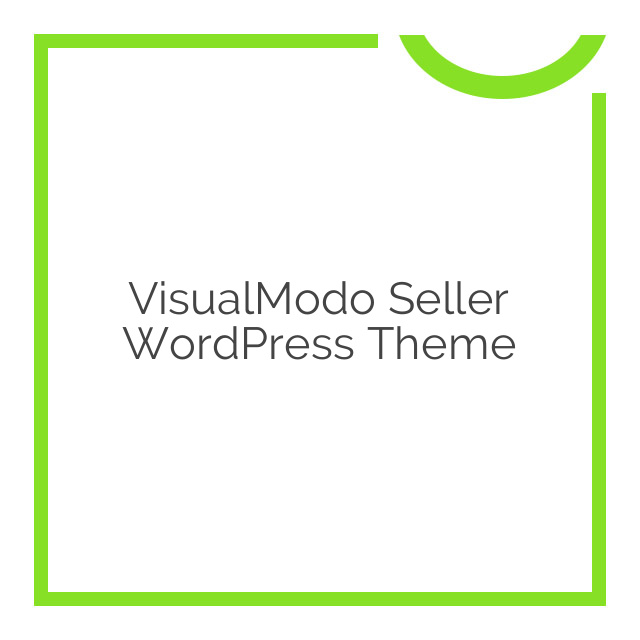 VisualModo Seller WordPress Theme 2.0.7