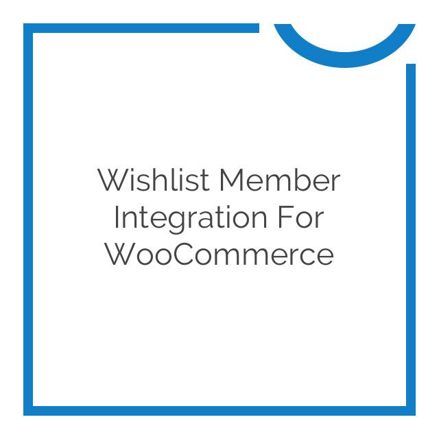 Wishlist Member Integration for WooCommerce 2.5.2