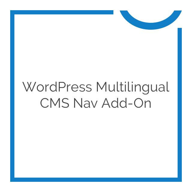 WordPress Multilingual CMS Nav Add-On 1.4.21