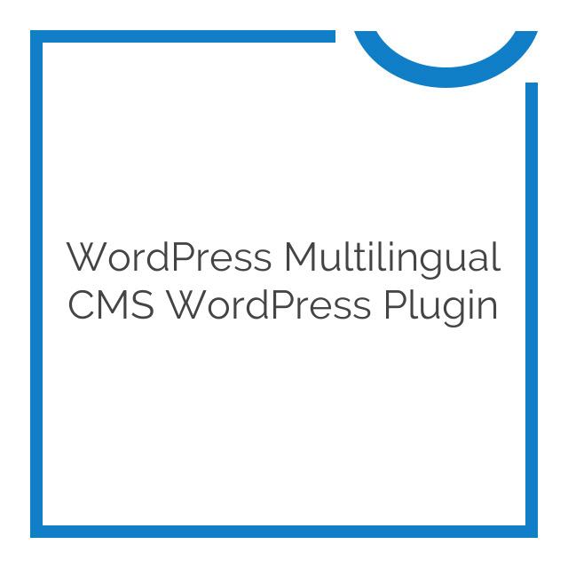 WordPress Multilingual CMS WordPress Plugin 3.8.4