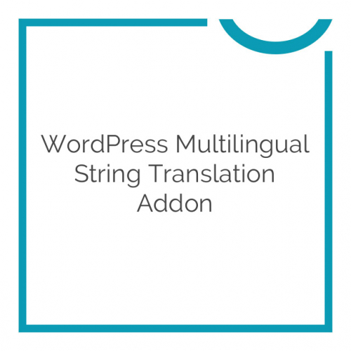 WordPress Multilingual String Translation Addon 2.6.3