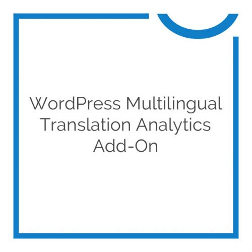 WordPress Multilingual Translation Analytics Add-On 1.0.7