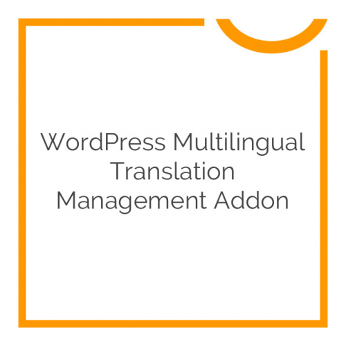 WordPress Multilingual Translation Management Addon 2.4.3