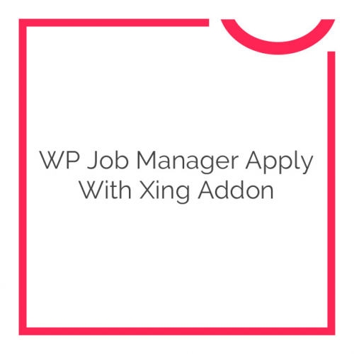 WP Job Manager Apply With Xing Addon 1.1.0