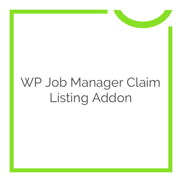 WP Job Manager Claim Listing Addon 3.4.0
