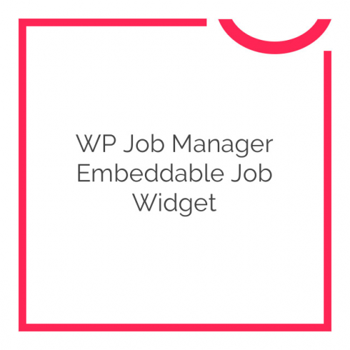 WP Job Manager Embeddable Job Widget 1.1.0