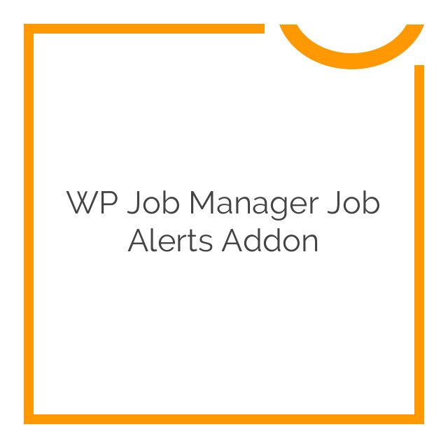WP Job Manager Job Alerts Addon 1.5.0