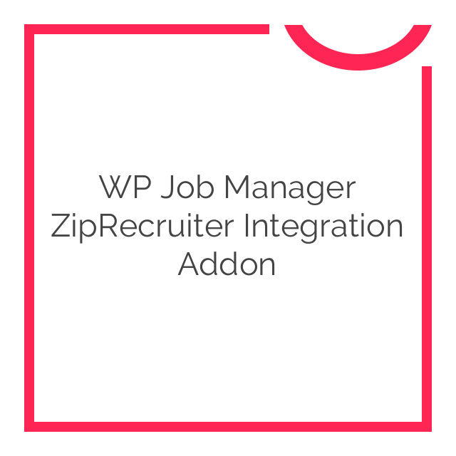 WP Job Manager ZipRecruiter Integration Addon 1.1.0