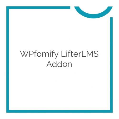 WPfomify LifterLMS Addon 1.0.0