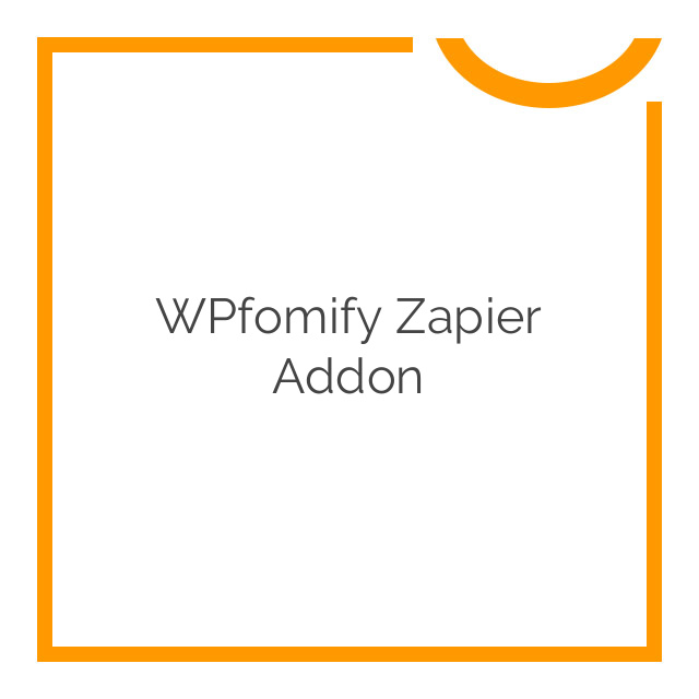 WPfomify Zapier Addon 1.0.0