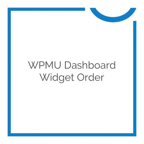 WPMU Dashboard Widget Order 2.0.4.2
