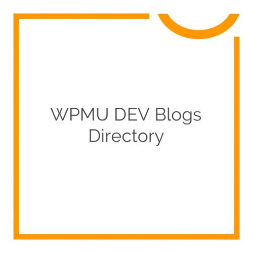 WPMU DEV Blogs Directory 1.2.0.4