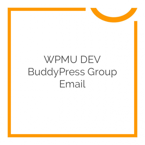 WPMU DEV BuddyPress Group Email 1.0.8