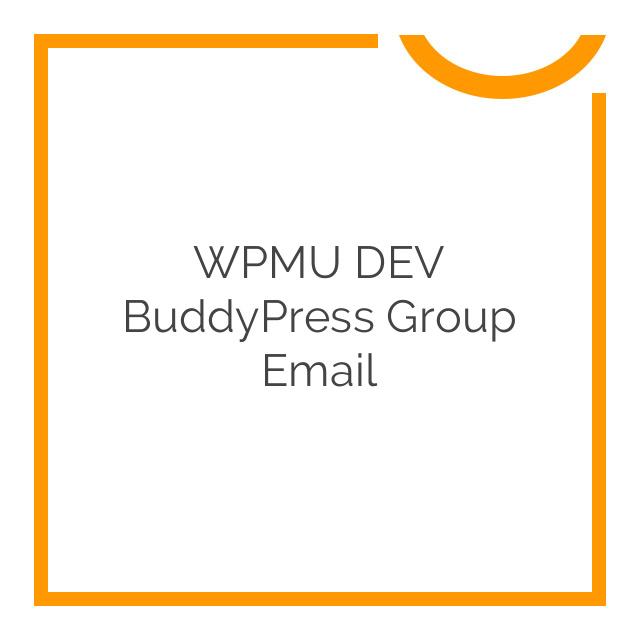 WPMU DEV BuddyPress Group Email 1.0.8