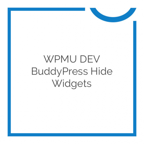 WPMU DEV BuddyPress Hide Widgets 1.0.5