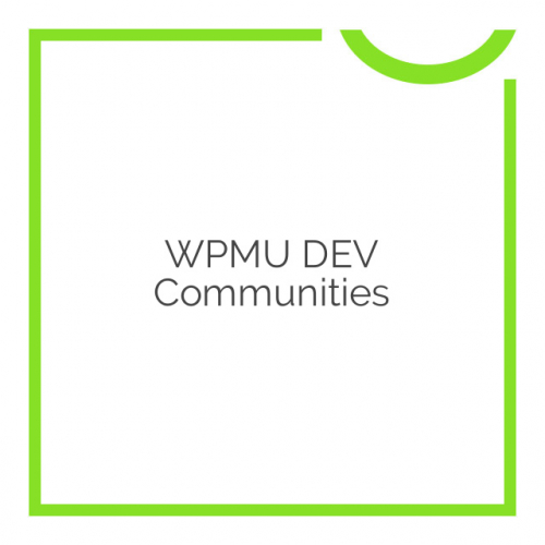 WPMU DEV Communities 1.1.9.9