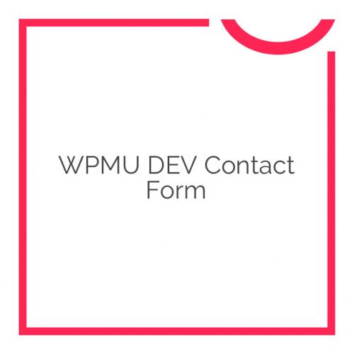 WPMU DEV Contact Form 2.2.1
