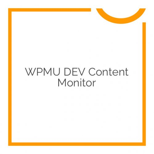 WPMU DEV Content Monitor 1.4