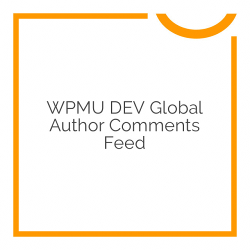 WPMU DEV Global Author Comments Feed 1.0.3.3