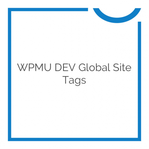 WPMU DEV Global Site Tags 3.1.0.1