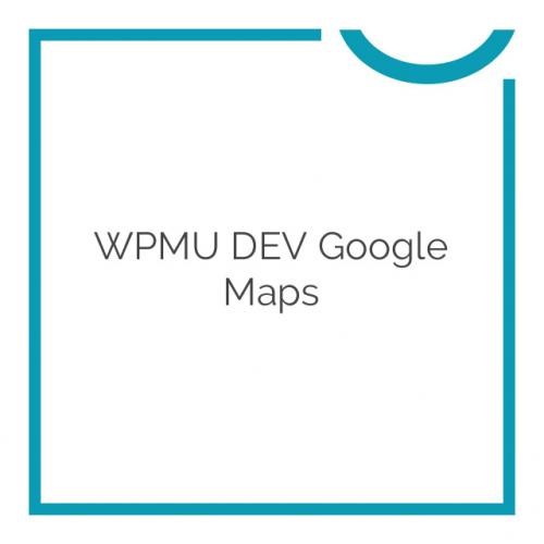 WPMU DEV Google Maps 2.9.4