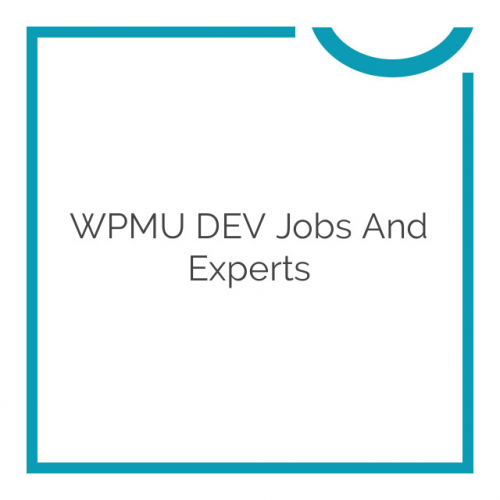 WPMU DEV Jobs and Experts 1.0.2.5