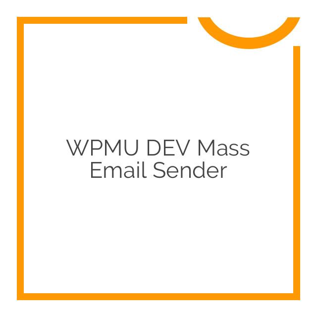 WPMU DEV Mass Email Sender 1.7.2