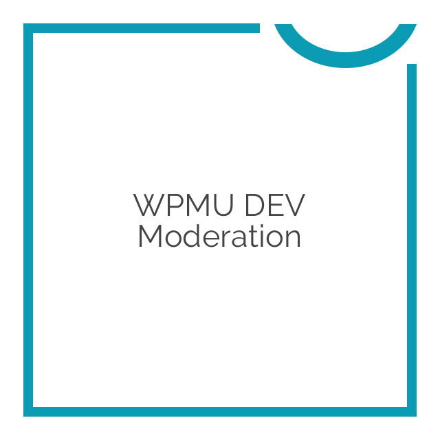 WPMU DEV Moderation 1.0.9