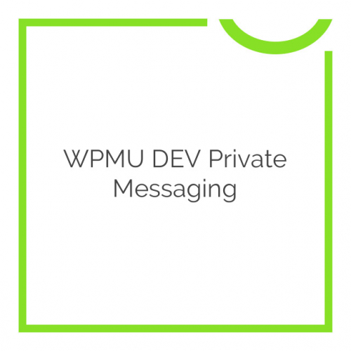 WPMU DEV Private Messaging 1.0.1.6