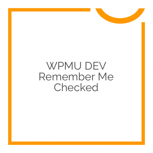 WPMU DEV Remember Me Checked 1.0.1