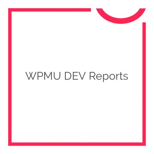 WPMU DEV Reports 1.0.8