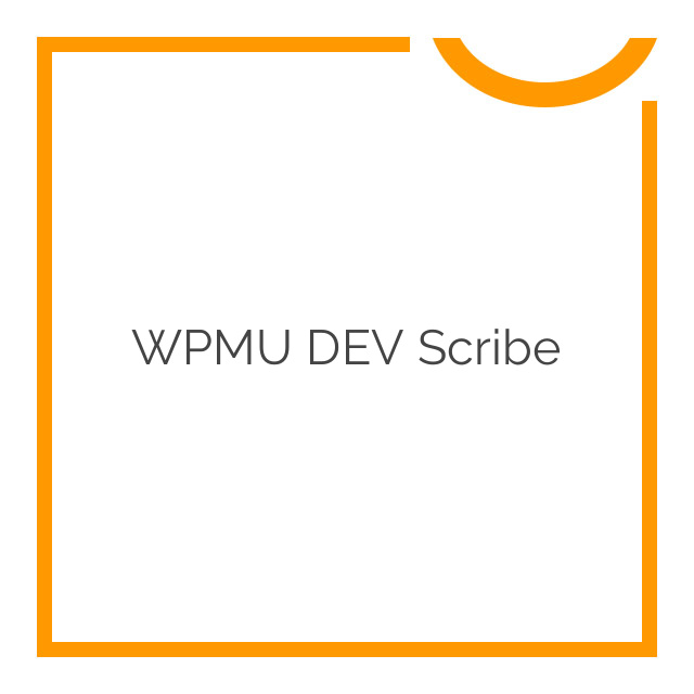 WPMU DEV Scribe 1.4.1
