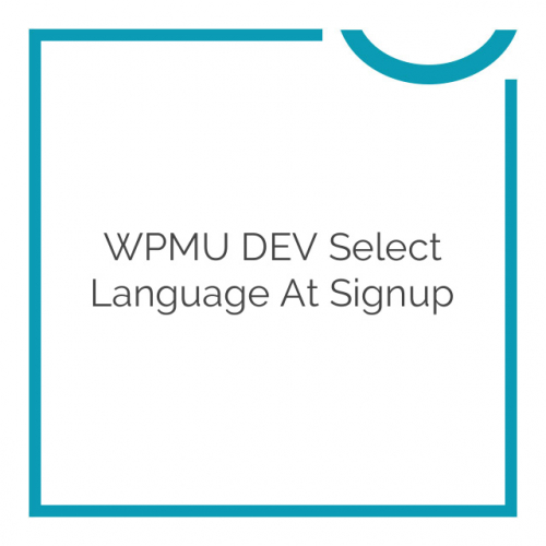 WPMU DEV Select Language at Signup 1.0.5.1
