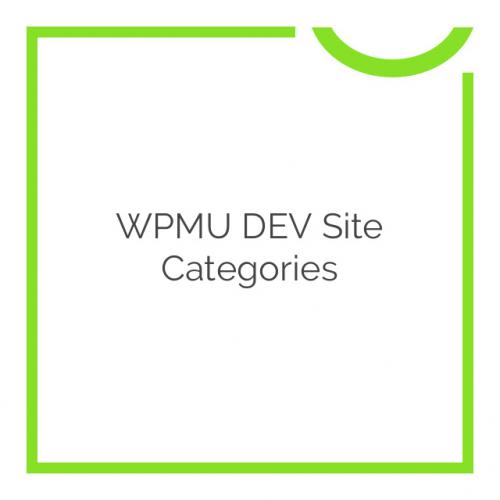WPMU DEV Site Categories 1.0.9.4