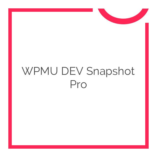 WPMU DEV Snapshot Pro 3.1.5