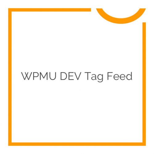 WPMU DEV Tag Feed 3.0.1