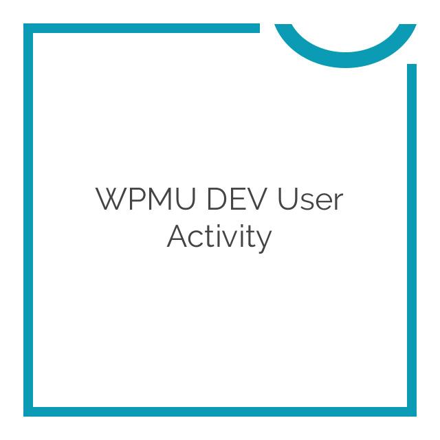 WPMU DEV User Activity 1.1
