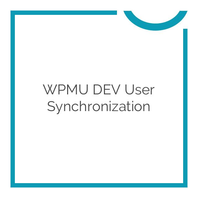 WPMU DEV User Synchronization 1.1.5.8