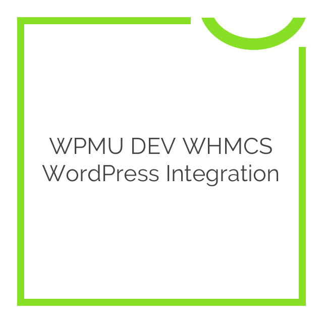 WPMU DEV WHMCS WordPress Integration 1.4.4