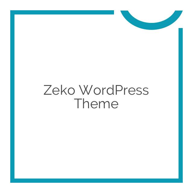 Zeko WordPress Theme 1.0.6