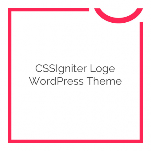 CSSIgniter Loge WordPress Theme 1.0