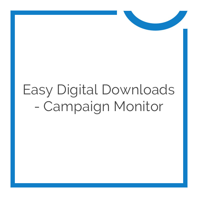 Easy Digital Downloads – Campaign Monitor 1.1.1