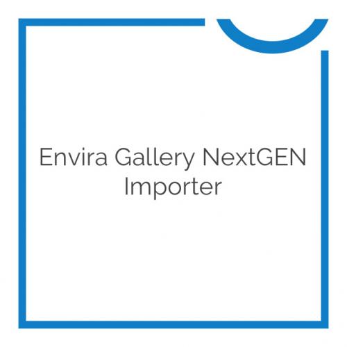 Envira Gallery NextGEN Importer 1.1.0