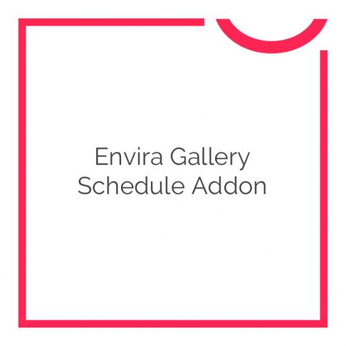 Envira Gallery Schedule Addon 1.1.0