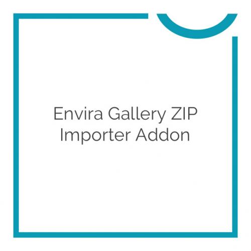Envira Gallery ZIP Importer Addon 1.1.0