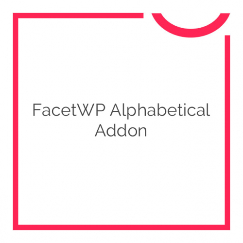 FacetWP Alphabetical Addon 1.2.2
