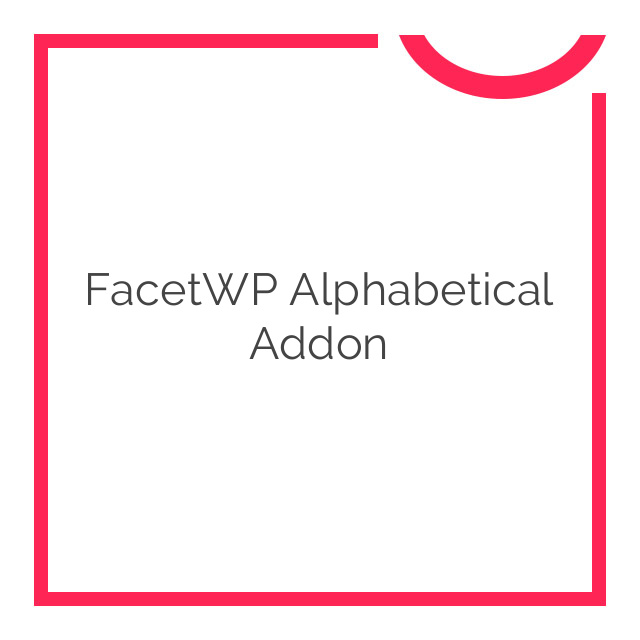 FacetWP Alphabetical Addon 1.2.2