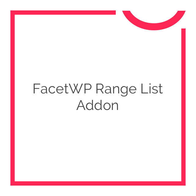 FacetWP Range List Addon 0.1